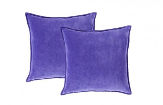Bright Purple Cotton Velvet Pillows main image