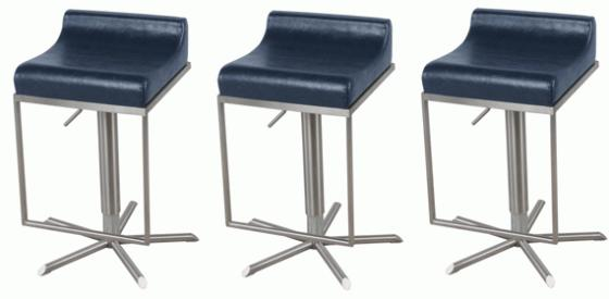 Zac Vintage Blue Gaslift Stool main image