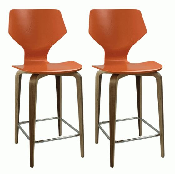 Orange Counter Stools main image
