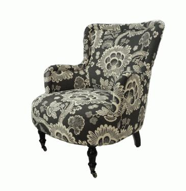 Floral Print Arm Chair With Wheels main image