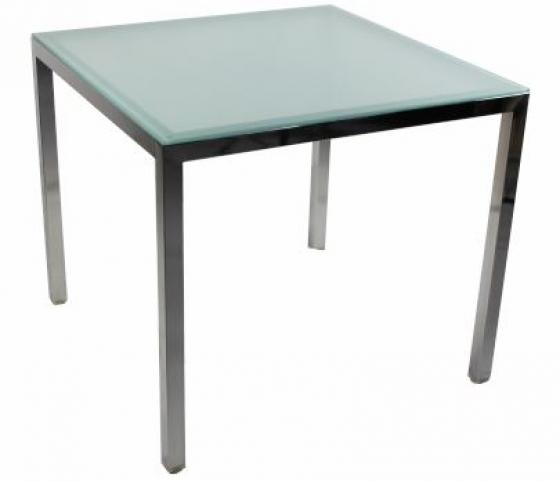 Square Glass Top Dining Table main image