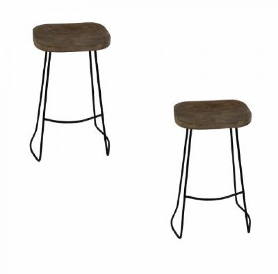 Bar Height Wood Stool Set main image