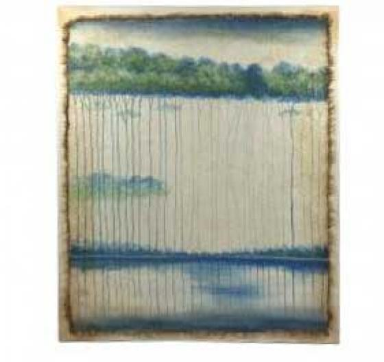 Blue and Cream Landscape Art main image