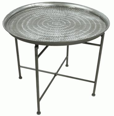 Foldable Silver tray table  main image