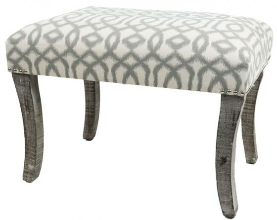 Patterned Vanity Bench main image