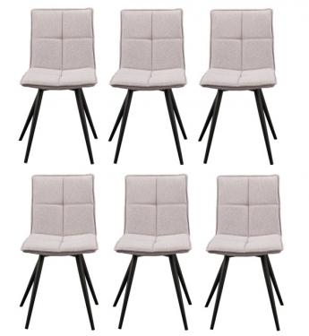 Light Gray Flannel Dining Chairs main image