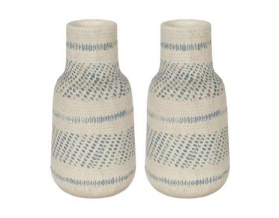 Blue & Cream Vase Set main image
