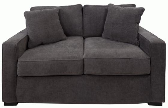 Grey Loveseat with pillows main image