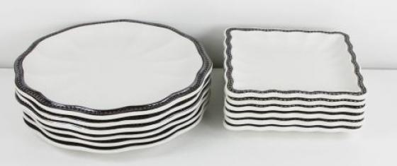 White And Silver Dish Set main image