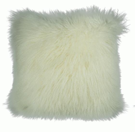Ivory Mongolian Wool Pillow main image
