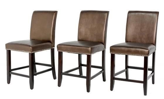 Bronze Studded Bar Stools main image