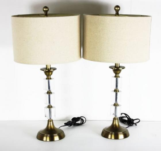 Glass/Metal Accent Lamp Set main image