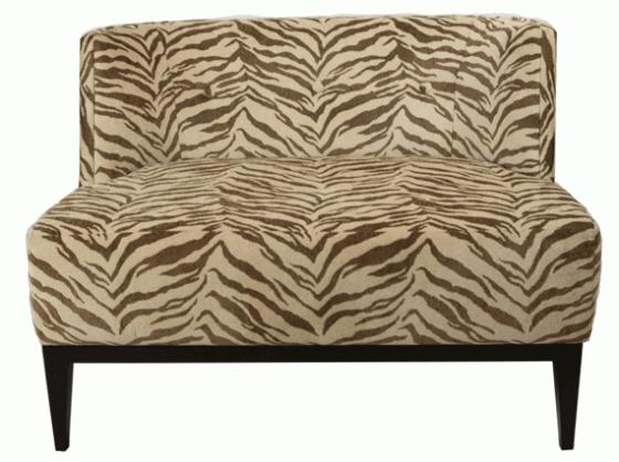 Beige Zebra Small Love Seat main image