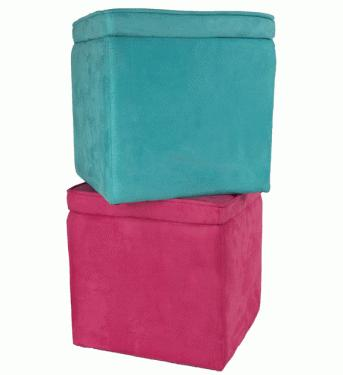 Pink  and Blue Storage Box Chairs main image