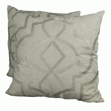 Beige and Gold Scroll Pattern Pillows  main image