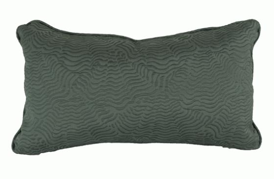 Muted Teal Textured Lumbar Pillow main image