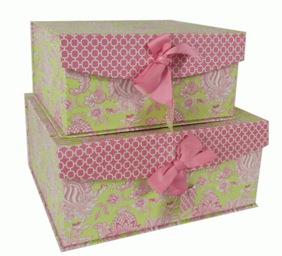 Pink and Green Patterned Box Set main image