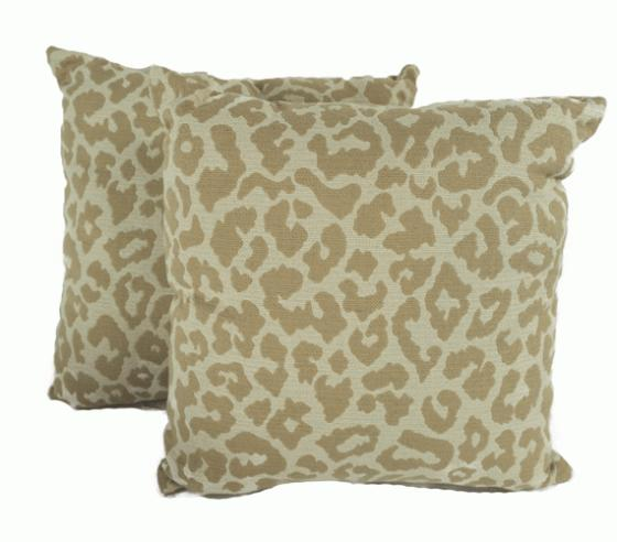 Tan Leopard Print Pillows main image