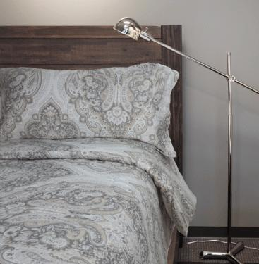 Beige and Grey Paisley King Bedding main image