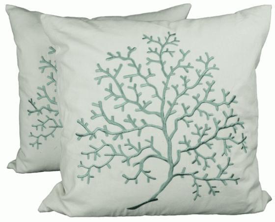 Blue Coral Decorative Pillows main image