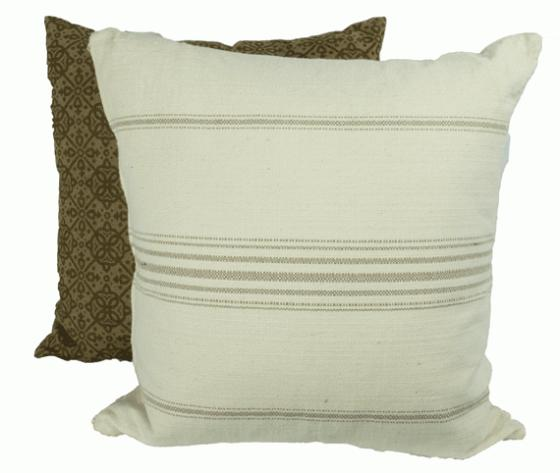 Brown and White Pillow Set main image
