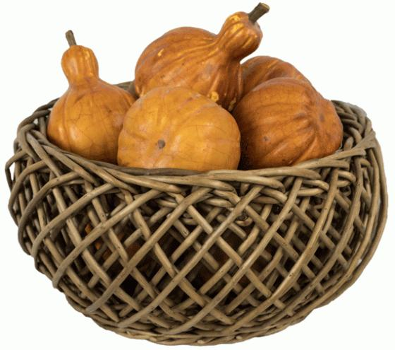Woven Basket with Gourds main image