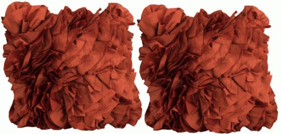 Burnt Orange Silk Layered Pillows main image