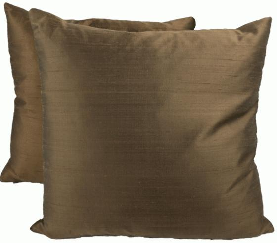 Brown Silk Pillows main image