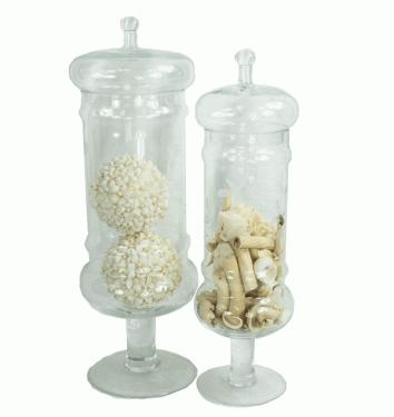 Glass Canisters with Potpourri main image