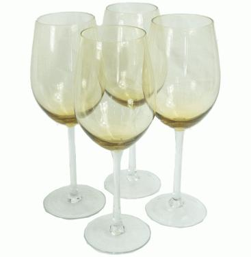 Yellow Tinted Wine Glasses main image
