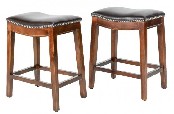Elmo Brown Bonded Leather Counter Stools main image