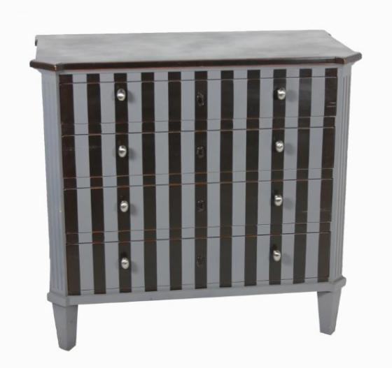 Grey/Black Striped Dresser main image