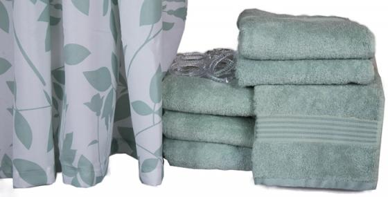 Teal Shower Curtain and Towel Set main image