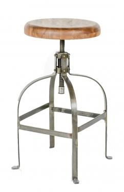 Industrial Wood/Metal Drafting Stool main image
