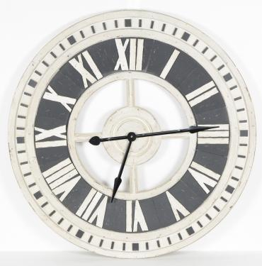 White and Black Wooden Clock main image