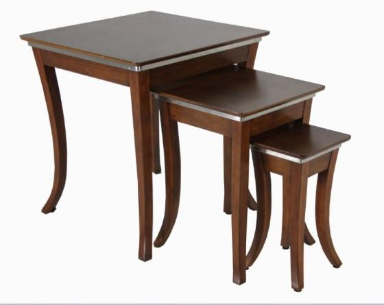 Brown Wood Table Set main image