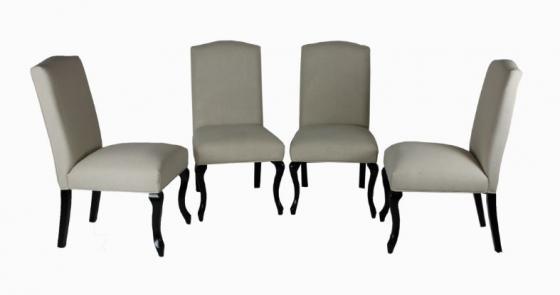 Wood/Fabric Cream Chair Set main image