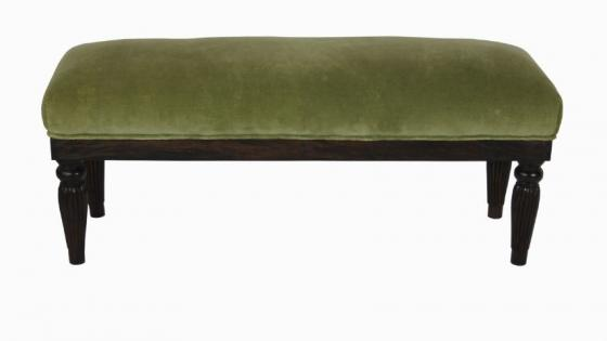 Green Fabric Accent Bench main image