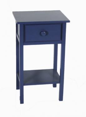 Small Blue Wood Side Table main image