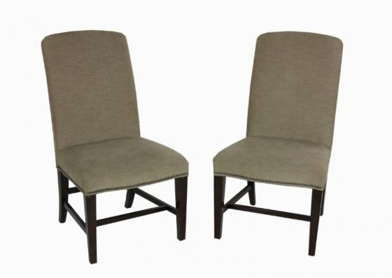 Beige Nail Head Dining Chairs Set main image
