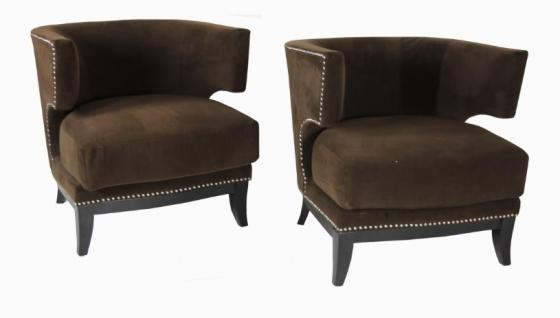 Two Smooth Nail Head Fabric Chair Set main image