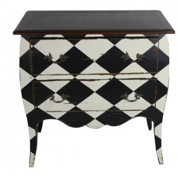 Weathered Black/White Checker Dresser main image