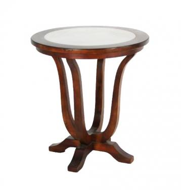 Round Side Table With White MarbleTop main image