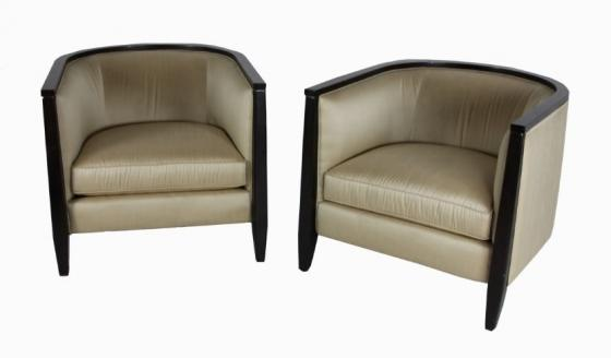 Gold W/Brown Wood Trim Chair Set main image