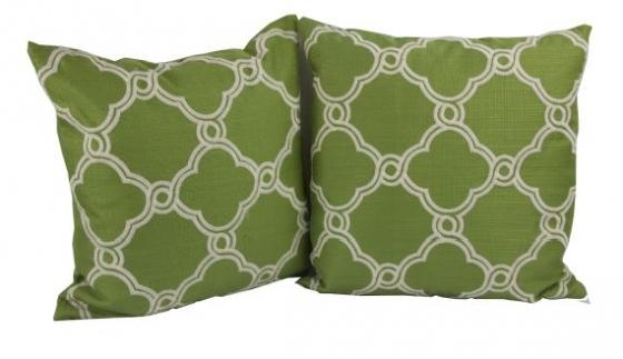 Green And White Pillow Set main image