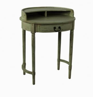 Light Green Weathered Side Table main image