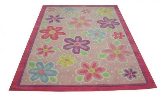 Pink Multi-color Floral Children's Rug 5'x7' main image
