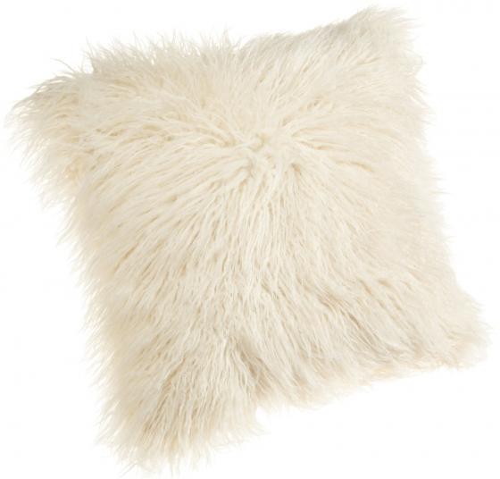 Faux Fur Creme Pillow main image