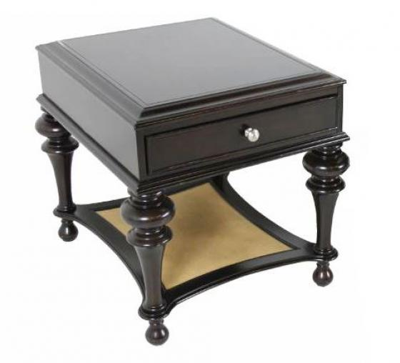 Brown Accent Side Table w/ Drawer main image