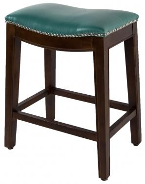 Elmo Teal Bonded Leather Stool main image